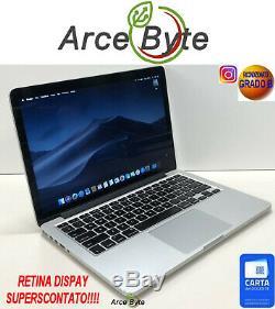 APPLE MACBOOK PRO 13 RETINA 2560x1600 MACOS 10.14 MOJAVE FATTURABILE MD212LL