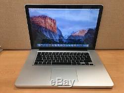 Apple MacBook Pro 15'' 2.0 GHz Core i7, 4GB Ram, 500GB HD, 2011 (Q34)