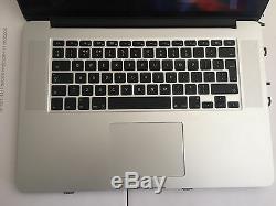 Apple MacBook Pro 15 Quad Core i7 2.2GHz 8GB 500GB 2011 MC723
