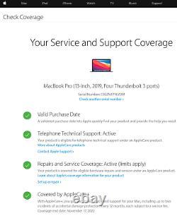 Apple MacBook Pro 2019 Touchbar 13,3 Core i7, 2TB SSD, 16GB Ram, AppleCare+2022