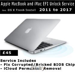 Apple MacBook Pro, Air, 2018/19 6 & 4 Digit Apple EFI Password Removal