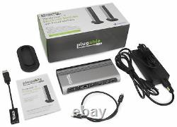 Plugable Thunderbolt 3 Dock with Charging, Compatible with MacBook Pro & Windows