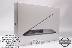 2018 Macbook Pro 15 2.6ghz 6 Core I7 16 Go 512 Go Garantie De 3 Ans Rrp £ 3028 Fcp / Ms