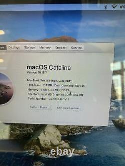 Apple Macbook Pro 13 Core I5 2.3/4ghz 4 Go Ram 500 Go Hdd Macos Catalina Grade C