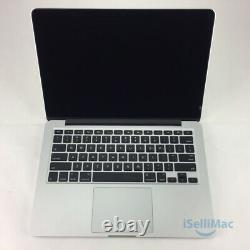 Apple Macbook Pro 13 Core I5 2.6ghz 2013 Ssd 8 Go 256 Go A1425 Me662ll / A + B Année
