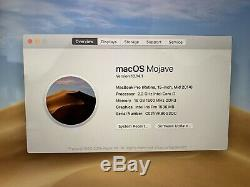 Apple Macbook Pro 15, 2.2ghz Core I7, 16 Go Ram, 256 Go Ssd, 2014 (p72)