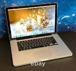 Apple Macbook Pro 15 Ordinateur Portable Pré-retina / I5 8 Go Ram 250 Go Ssd / Garantie 2 Yr