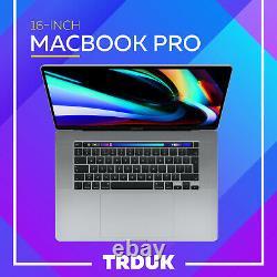 Apple Macbook Pro 16 Pouces I7 9ème Gen 16 Go 512gb Ssd Touch Bar Space Gray 2019