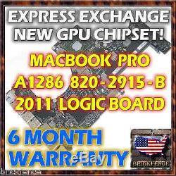 Echange Macbook Pro 15 A1286 820-2915-b Conseil Logic 2011 Réparation Nouveau Gpu Reball