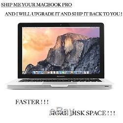 Macbook Pro Service Upgrade Je Mettre À Jour Votre Mac Plus Rapide Et Plus D'espace Disque