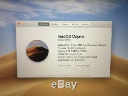 Mint Apple Macbook Pro 13, 2,3 Ghz I5, 8 Go De Ram, Ssd De 256 Go, 2018, Barre Tactile (p39)
