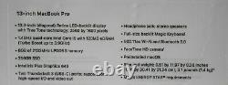 Nouveau 13 Apple Macbook Pro 2020 Touch Bar 1.4ghz I5 8 Go Ram 256 Go + Applecare+