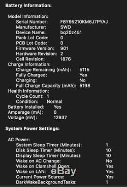 Nouveau Apple Macbook Pro 2019 13,3 2,8 16 Go Core I7 Ssd 512 Go Mars 2023 Applecare +