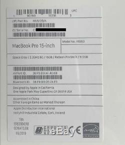 Nouveau Macbook Pro 15 2.3ghz I9 16 Go 512 Go Rrp £ 2799 Fcp / Ps / Logicx / Ms Mv912b / A