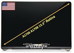 Nouveau Macbook Pro A1706 A1708 13 '' 2016 Assemblée 2017 Écran LCD Spacegrau