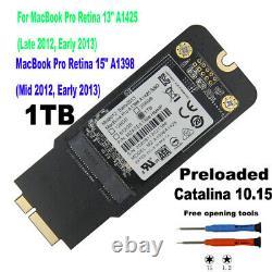 Nouvelle Mise À Niveau Apple Ssd 1 To Pour Macbook Pro Retina 13 15 2012 2013 A1425 A1398